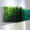 美しさと発想が光る 階層を利用したアクリル絵画「レイヤードローイング」シリーズ