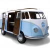 フォルクスワーゲンのバスをモチーフにしたキッズベット「VW BUS-INSPIRED KIDS BED」