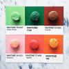 PANTONEチップをさまざまな物のカラーバリエーションと融合した「PANTONEPOSTS」