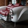 車好きにはたまらない!?車のフロント部品をそのままに利用してデザインしたソファ