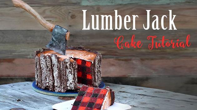まるで本物!?切り株をモチーフにしたケーキ「Lumberjack Cake」