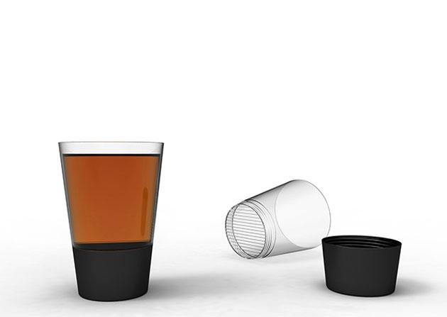カップひとつでお茶を入れることができる「ZaDno」